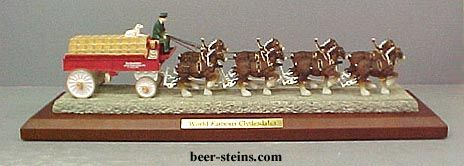 Anheuser Busch Clydesdale Horse A Amp Eagle Truck Figurine