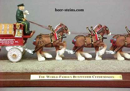 Budweiser Clydesdales Figurines By Anheuser Busch