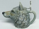 Wolf Character lidded stein - Right View