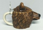 Grizzly Bear Character lidded stein - Left View