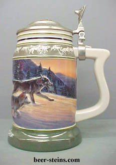 Wolf Stein Gray Wolf Timber Wolf Steins