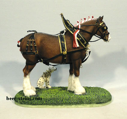 Parade Dress Pals budweiser clydesdale figurine