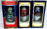 Budweiser 2003 through 2005 ornaments - Front View3-5