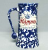 1960s Hamms Blue & White Ware stein - Left View