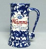 1960s Hamms Blue & White Ware stein - Right View