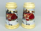 1983 Winter Black and Brown version steins - Front View