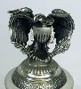 US Vintage Coin lidded stein with Eagle Figurine- Top View