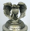 USA Stars & Stripes lidded stein with Eagle Figurine - Top View